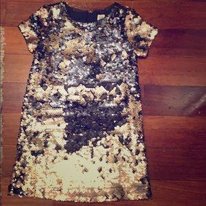 Girls size S Flippy Sequin Dress